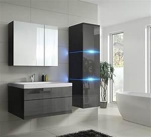 Ebay Badmöbel Hochglanz : badm bel lux 1 new mdf badezimmerm bel grau hochglanz ~ Watch28wear.com Haus und Dekorationen