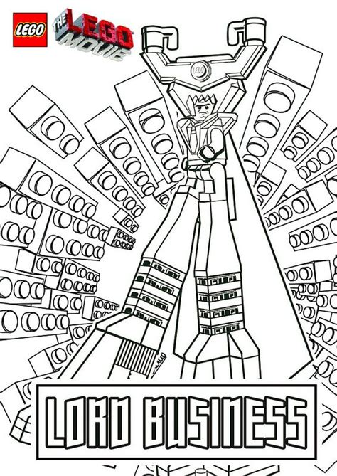 lego  coloring pages lord business  lego