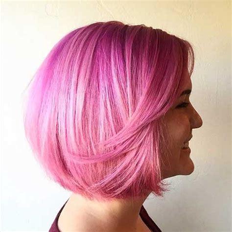nice short pink hair ideas  young women short