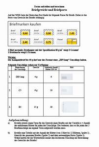 Brüche Berechnen : terme aufstellen berechnen arbeitsblatt briefporto terme klasse 7 8 ~ Themetempest.com Abrechnung