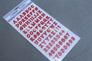 Wholesale adhesive vinyl alphabet stickersplastic for Buy letter stickers