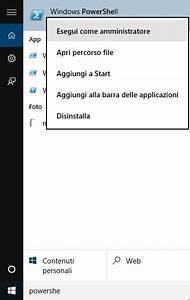 Tasto start non va windows 10