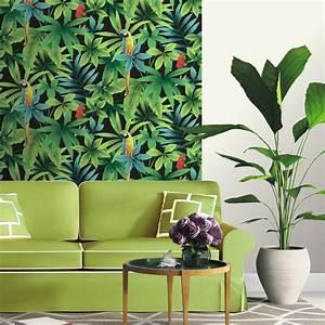 Foret Carrelage Leroy Merlin : papier peint motif jungle en vert for t vert ~ Dailycaller-alerts.com Idées de Décoration