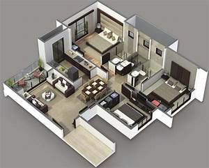 3 Bedroom House Plans 3D Design 3 - Artdreamshome ...