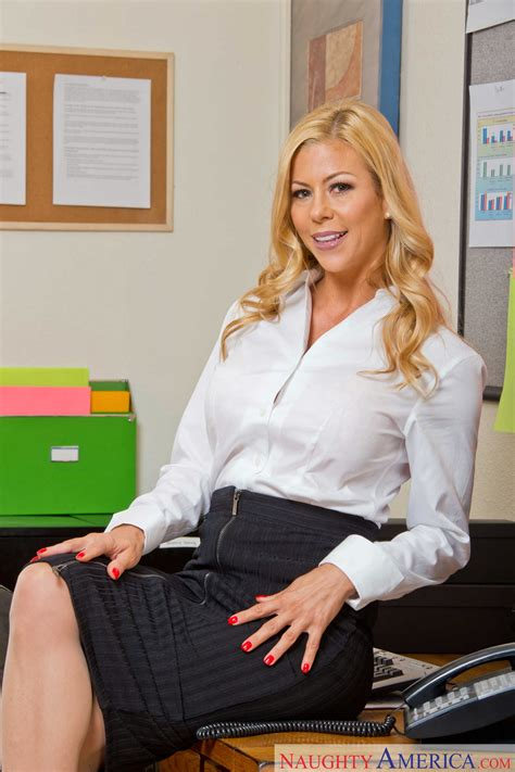 Hot Secretary Alexis Fawx In Stockings And Heels Strips In The Office My Pornstar Book
