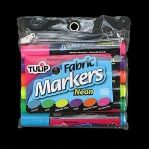 Tulip Permanent UV Reactive Neon Fabric Markers