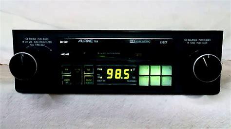Cassette Car Stereo by Vintage Alpine 7164 Am Fm Cassette Car Stereo