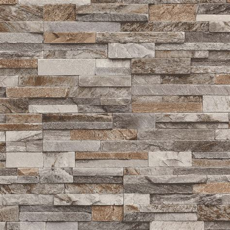 Moderne Tapeten Stein slate wall effect wallpapers modern feature wall