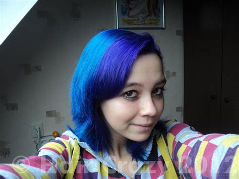 Blue And Purple By Directions Hair Dye!