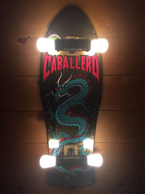 ebay seller turns skateboard decks  wall lamps