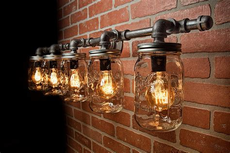 Mason Jar Light Fixture Industrial Light Rustic Light