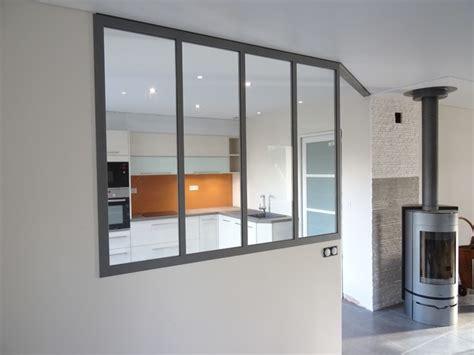 chambre avec verriere verrière intérieur séparation cuisine salon