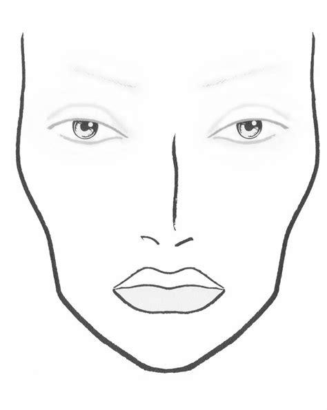 plastic  mac face chart   hair