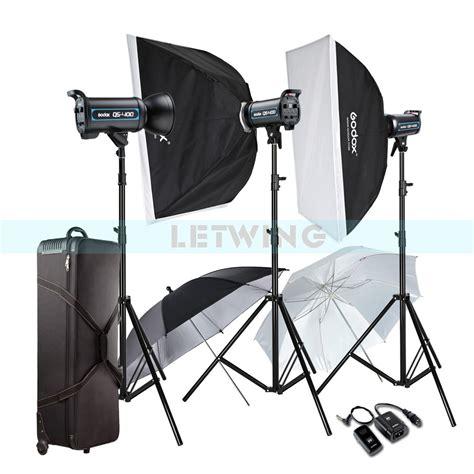 professional photography lighting godox 3x 400w professional studio strobe flash light 1671