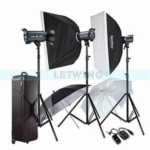 Godox 3X 400W Professional Studio Strobe Flash Light ...