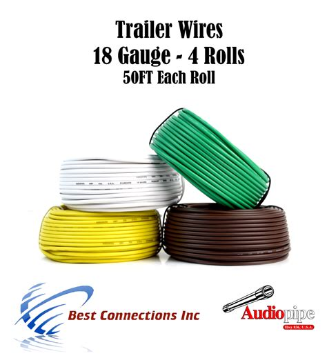 4 way trailer wire light cable for harness led 50ft each