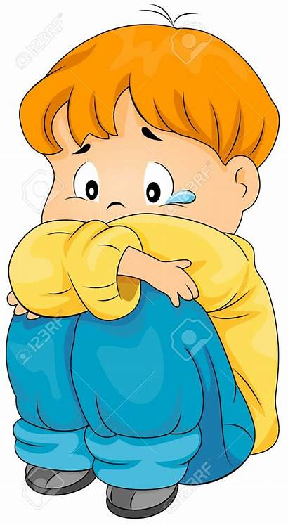 Sad Lonely Clipart Boy Sadness Cliparts Clip
