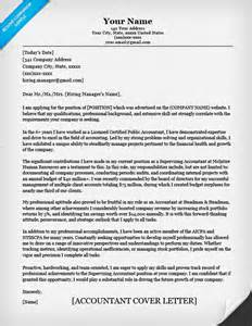accounting cover letter for resume accounting cover letter sle writing tips resume companion