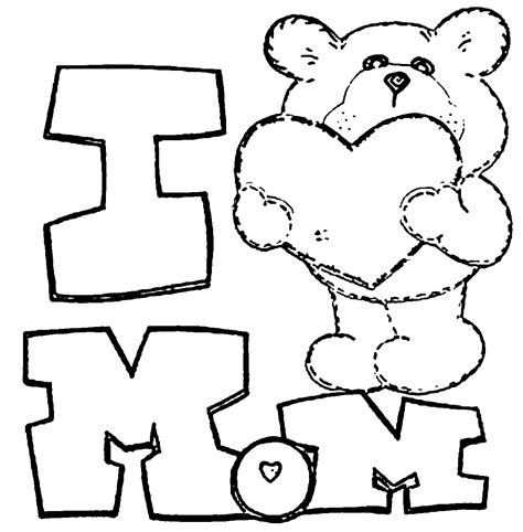 love mom coloring pages  heart mom coloring pages