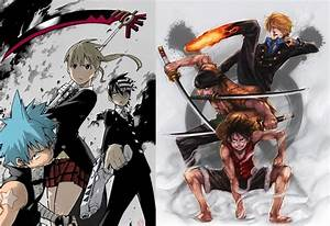Naruto and Sasuke vs Soul Eater and One Piece - Battles ...  Naruto