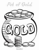 Coloring Pot Gold Noodle Outline Built California Usa Twistynoodle sketch template