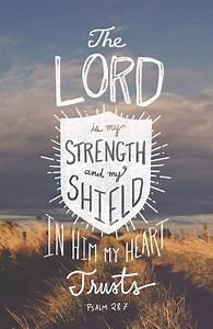 Psalm 28:7 Bible Scripture