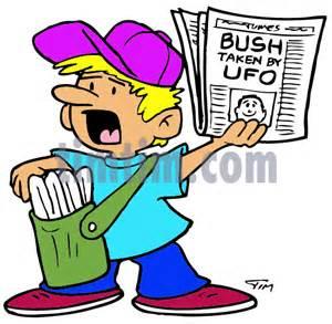 Paper Boy Newspaper Cartoon