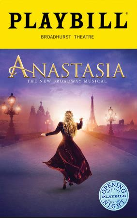 anastasia  broadway musical limited edition official