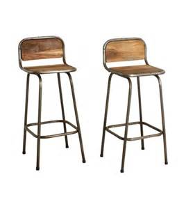 tabouret de bar bois metal vintage people