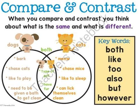 Free Compare & Contrast Poster From First Grade Is Sweet! On Teachersnotebookcom  (1 Page