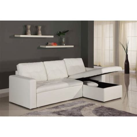 canap d angle convertible simili cuir canapé d 39 angle lit convertible girly blanc en simili cuir