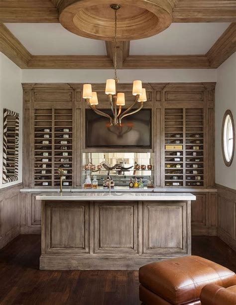 Built In Bar Cabinets by Built In Bar With Flatscreen Tv Niche Contemporary