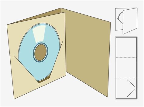 Cd Template Template Packaging Box Pesquisa Papel