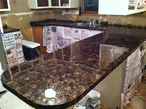 how to refinish kitchen countertops diy why spend more faux granite countertops
