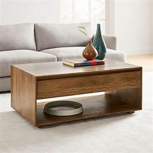 Anton, Solid, Wood, Storage, Coffee, Table