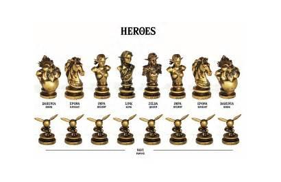 Zelda Chess Pieces Legend Gadgetify Board Tag