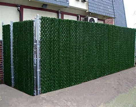 synturfmats artificial hedge slats panels  chain link