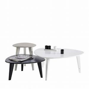Set De Table Design : set de 3 tables basses laqu es smooth by drawer ~ Teatrodelosmanantiales.com Idées de Décoration