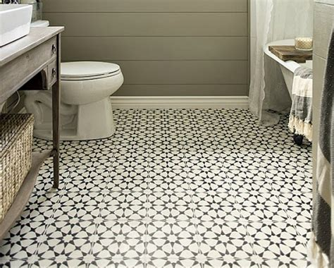 Retro Mosaic Flooring Vintage Bathroom Tile Floor Patterns