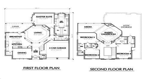 story house floor plans simple  story house  story beach house plans treesranchcom