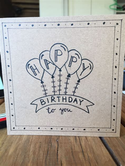 wefalling easy pencil drawing happy birthday card design easy
