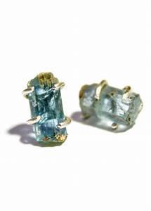 Rough cut aquamarine earrings   Shiny   Pinterest   My ...