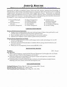 professional resume template download schedule template free With resume templates for finance professionals