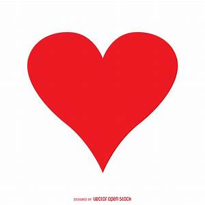 Isolated red heart - Vector download