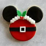 mickey mouse christmas sugar cookies - Mickey Mouse Christmas Cookies