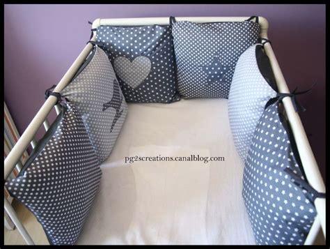 tour de lit coussins etoiles et petits pois la ptite boutique