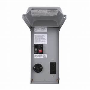 Ge 70 Amp Power Outlet Box With Duplex 20 Amp Gfci Outlet