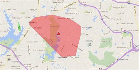 power outage reported  high point jamestown winston