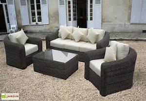 Salon De Jardin Rsine Tresse Ronde Riviera Set 4 Pices