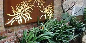 Laser cut metal wall art courtyard design styling by
